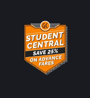 Student Central - get 25% off train travel